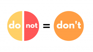 do + not = don't